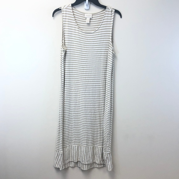 Chico's Dresses & Skirts - Chico's Striped Midi Dress Size 2
